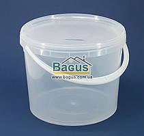 Ведро 5л из пищевого пластика круглое с крышкой (прозрачное)