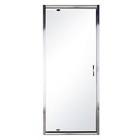 EGER 599-150-90(h) Дверь в нишу распашная 90см хром прозрачная