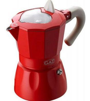Гейзерна кавоварка GAT ROSSANA червона на 1 чашку (103101) red