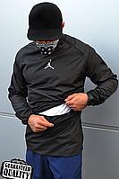 Мужской анорак Nike Jordan | Ветровка Джордан | Чоловічий анорак Найк Джордан (Черный), фото 1