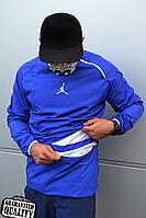 Мужской анорак Nike Jordan   Ветровка Джордан   Чоловічий анорак Найк Джордан (Синий), фото 1