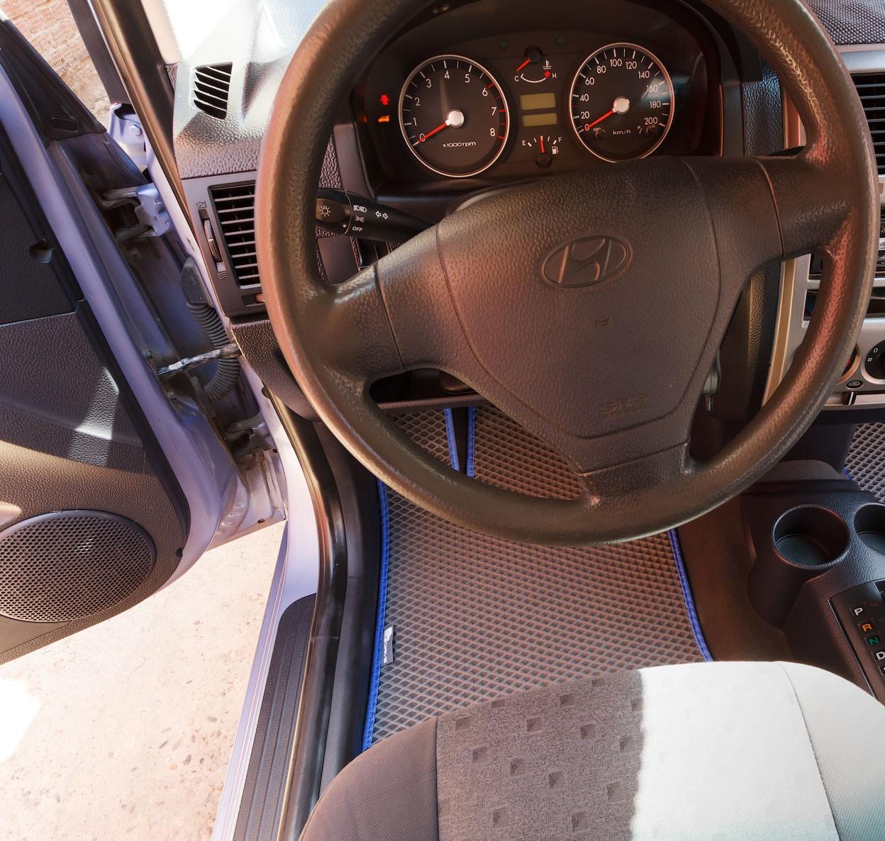 Автоковрики для Hyundai Getz (5 дверей) (2002-2011) eva коврики от ТМ EvaKovrik
