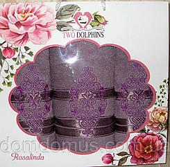 """Подарочный набор полотенец """"Ester"""" (баня 1 шт., лицо 2 шт.) TWO DOLPHINS, Турция 0175"""