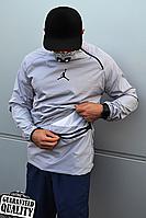 Мужской анорак Nike Jordan | Ветровка Джордан | Чоловічий анорак Найк Джордан (Серый), фото 1