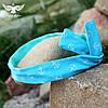Голубая, двусторонняя повязка с якорьками