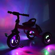 Детский Велосипед трехколесный со светящимися колесами TURBOTRIKE M 3648-M-1 синий Быстрая доставка., фото 5