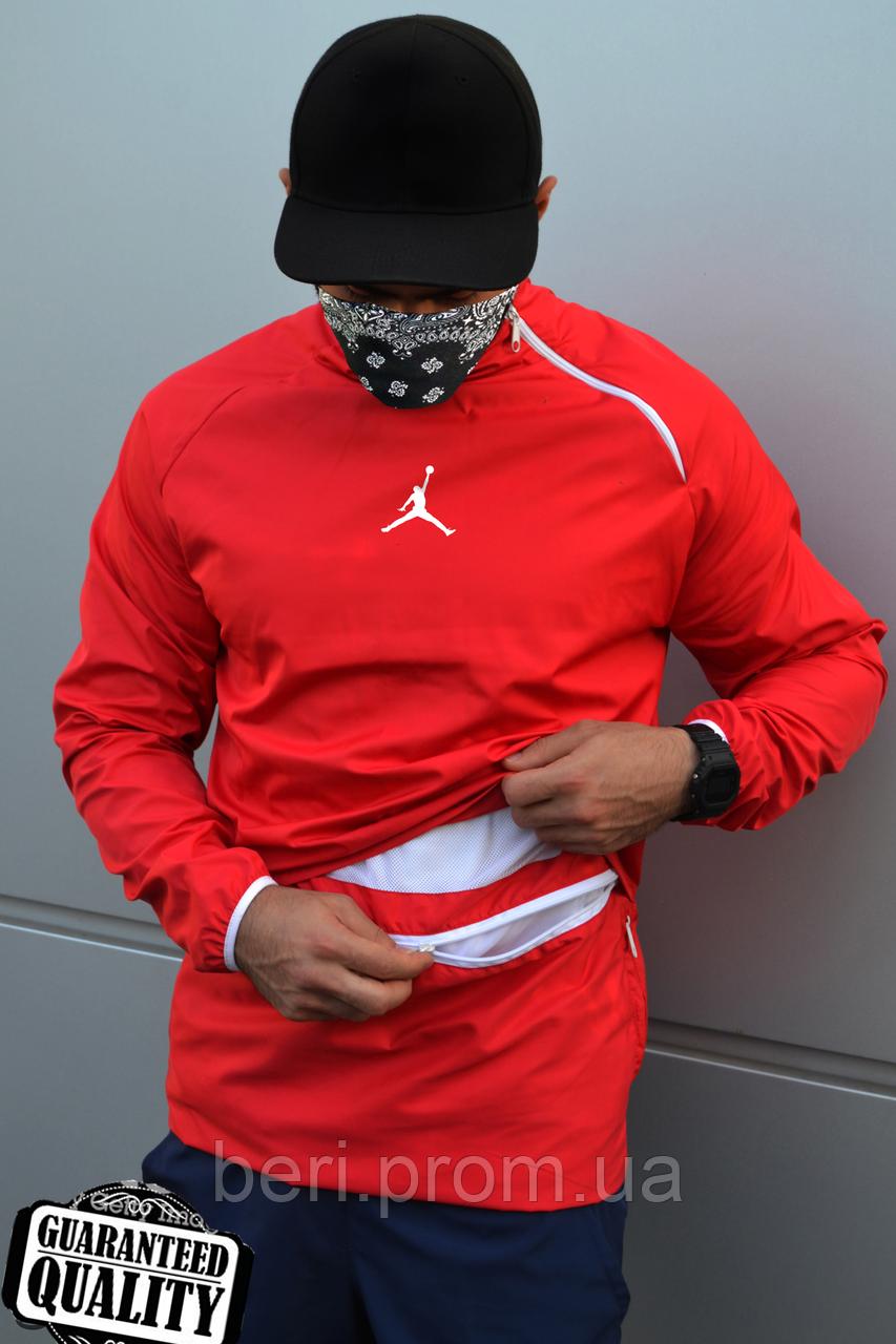 Мужской анорак Nike Jordan | Ветровка Джордан | Чоловічий анорак Найк Джордан (Красный)
