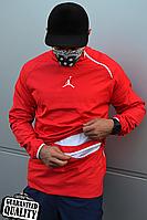 Мужской анорак Nike Jordan | Ветровка Джордан | Чоловічий анорак Найк Джордан (Красный), фото 1