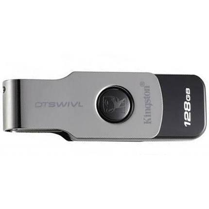 Флешка USB 3.0 128 Gb Kingston DT Swivel Design Metal/Black, DTSWIVL/128 Gb, фото 2