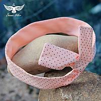 Персиковая повязка в горошек, фото 1