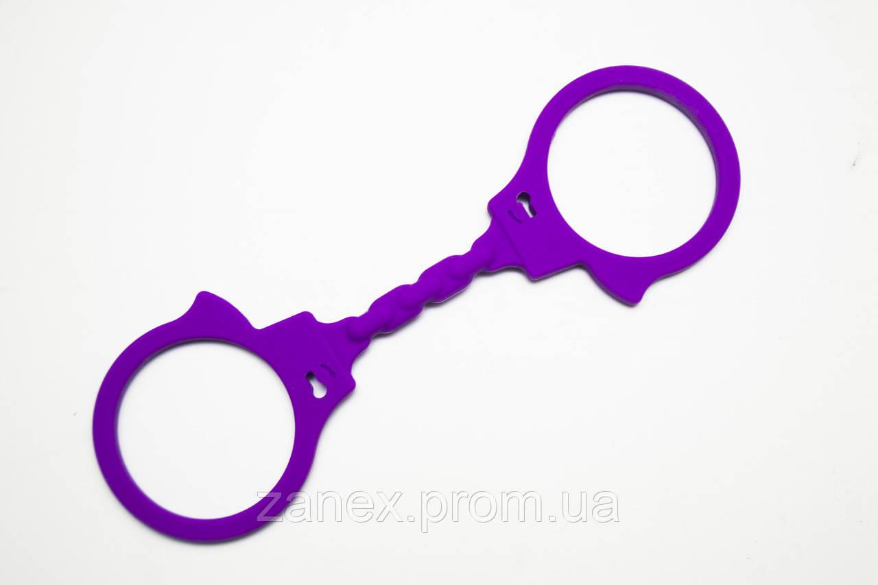 Наручники силиконовые Arvin фиолетовые