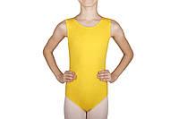 """Купальник для танцев с рукавом """"майка"""" Rivage Line 6028-1 желтый, хлопок"""