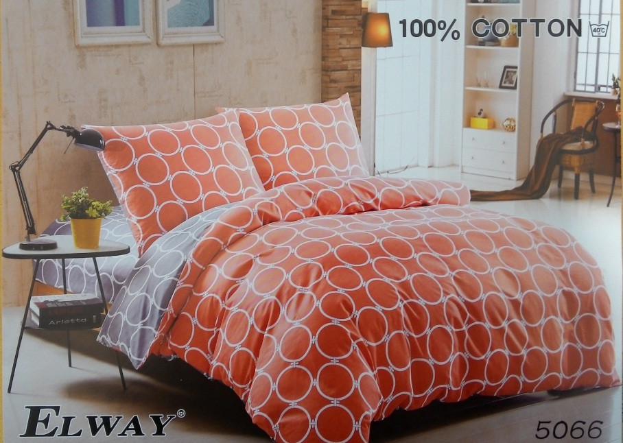Сатиновое постельное белье полуторное  ELWAY 5066