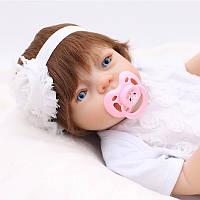 Кукла реборн 51 см полностью виниловая девочка Мелания