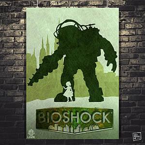 Постер Bioshock. Размер 60x42см (A2). Глянцевая бумага