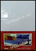 Простынь на резинке трикотажная с наволочками Polents белая - Турция, фото 1