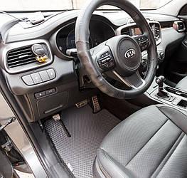Автоковрики для Kia Sorento Prime (III поколение) (2014->) eva коврики от ТМ EvaKovrik