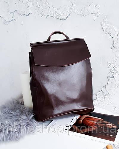 eeb339649121 Женский кожаный рюкзак коричневого цвета