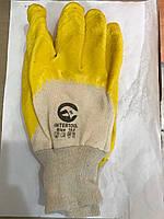 Перчатки рабочие стекольщика желтое