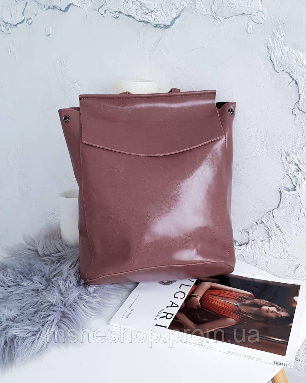 4c13f00a8d11 Женский кожаный рюкзак пудрового цвета