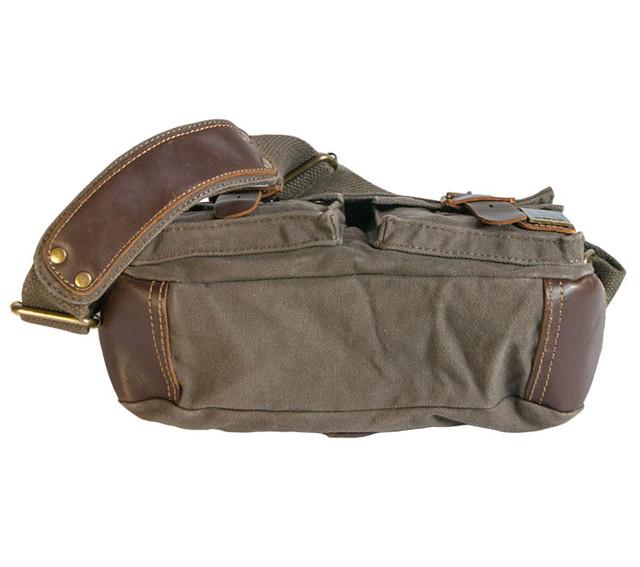 Мужская сумка через плечо из ткани Akarmy вид снизу