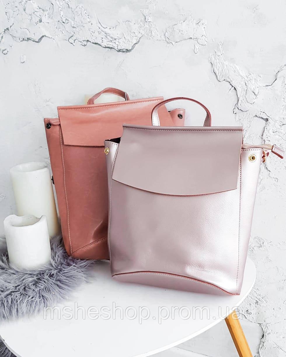 c7dfe9696208 Женский кожаный рюкзак розового цвета Vishnya