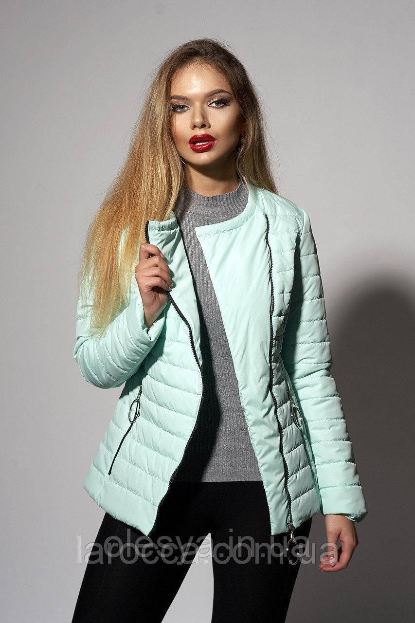 Женская молодежная демисезонная куртка.  Цвет мята.Размеры 44 46
