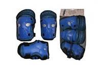 Защита спортивная наколенники, налокот., перчатки ZEL  (р-р S-3-7лет, M-8-12лет, синий)