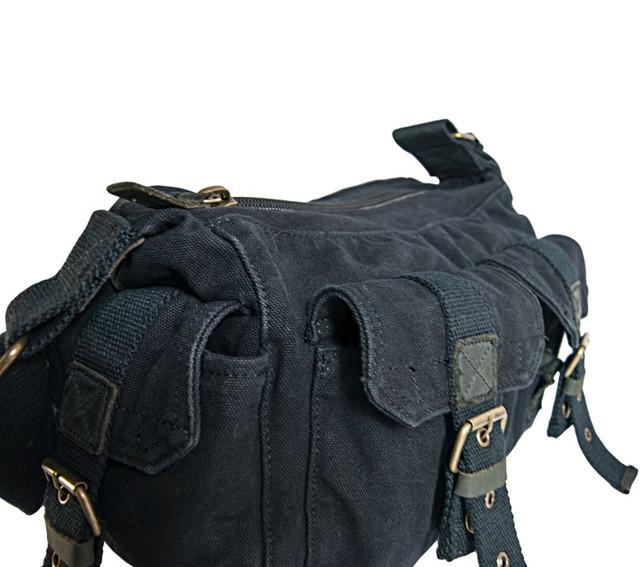 Молодежная мужская черная сумка через плечо