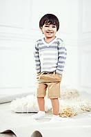 Вязаный джемпер в полоску для мальчика Серый