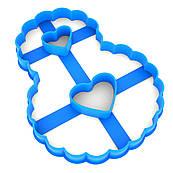 Вирубка для пряників Цифра 8 ажурна з серцями 12*9 см (3D)