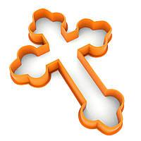 Вырубка для пряников Крест-1 10*7,4 см (3D)