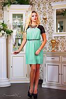 Модное  платье с кружевом, фото 1