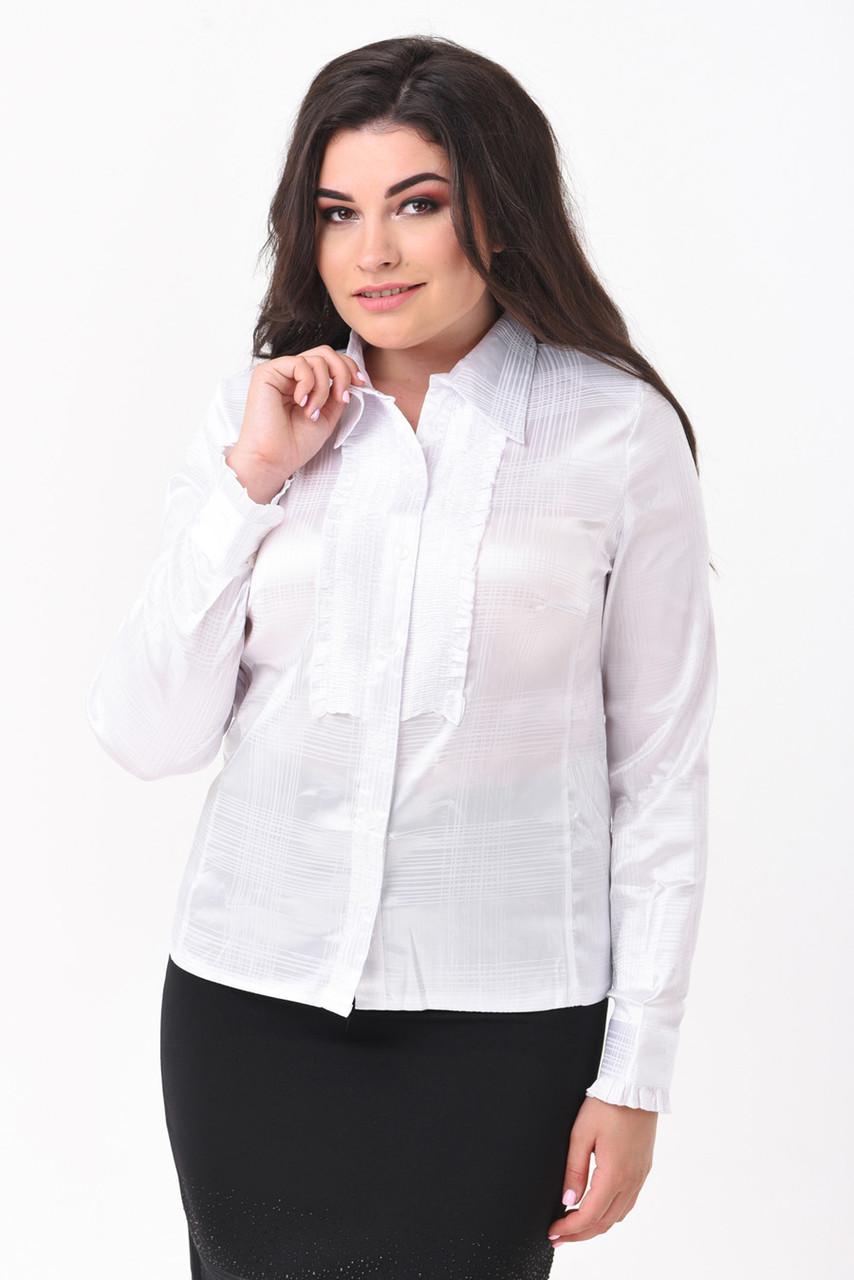 Женская блузка белого цвета  большой размер 50-58