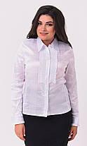 Женская блузка белого цвета  большой размер 50-58, фото 3
