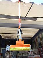 Швабра с двойным отжимом, телескоп хром, фото 1