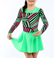 Купальник с юбкой детский Rivage Line 853 зеленый,бифлекс