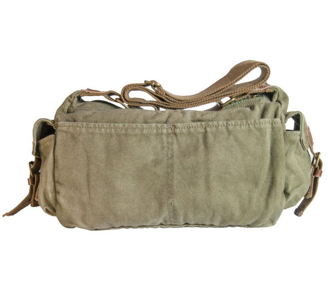 Мужская сумка хаки вид сзади