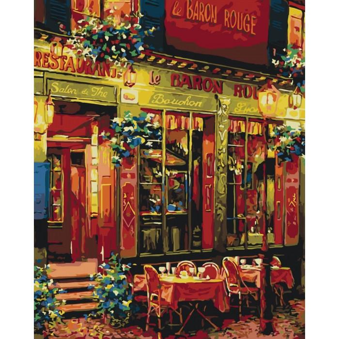 Картина по номерам Городской пейзаж Ужин на двоих 40*50 см Идейка, КНО2196, 301202