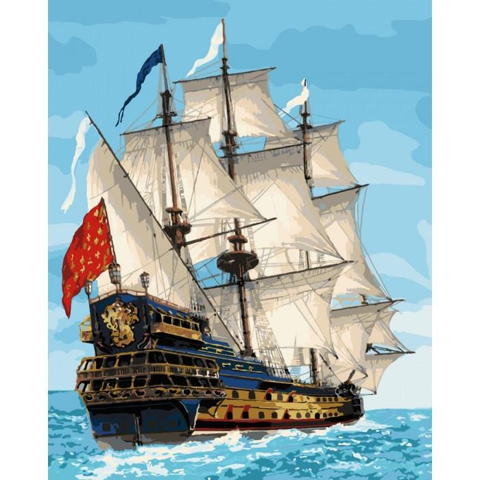 Картина за номерами Морський пейзаж Королівський флот 40х50 см Ідейка, КНО2729, 301493
