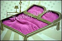 Простынь на резинке махровая Alber розовая - Турция (kod 3432)