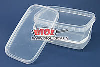 Контейнер 2,3л пищевой 22,5х14,5х11см пластиковый прямоугольный прозрачный с крышкой и ручкой