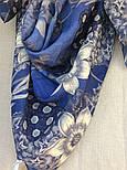 10509-13, павлопосадский платок шерстяной (разреженная шерсть) с швом зиг-заг, фото 5