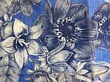 10509-13, павлопосадский платок шерстяной (разреженная шерсть) с швом зиг-заг, фото 4
