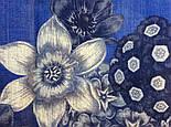 10509-13, павлопосадский платок шерстяной (разреженная шерсть) с швом зиг-заг, фото 7