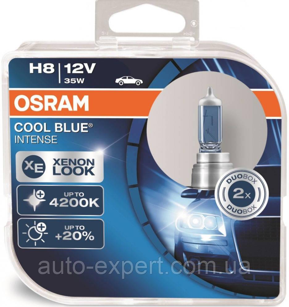 "Автомобильные галогенные лампы ""OSRAM"" (H8)(Cool Blue intense)(4200K)(+20%)(12V)(35W)"