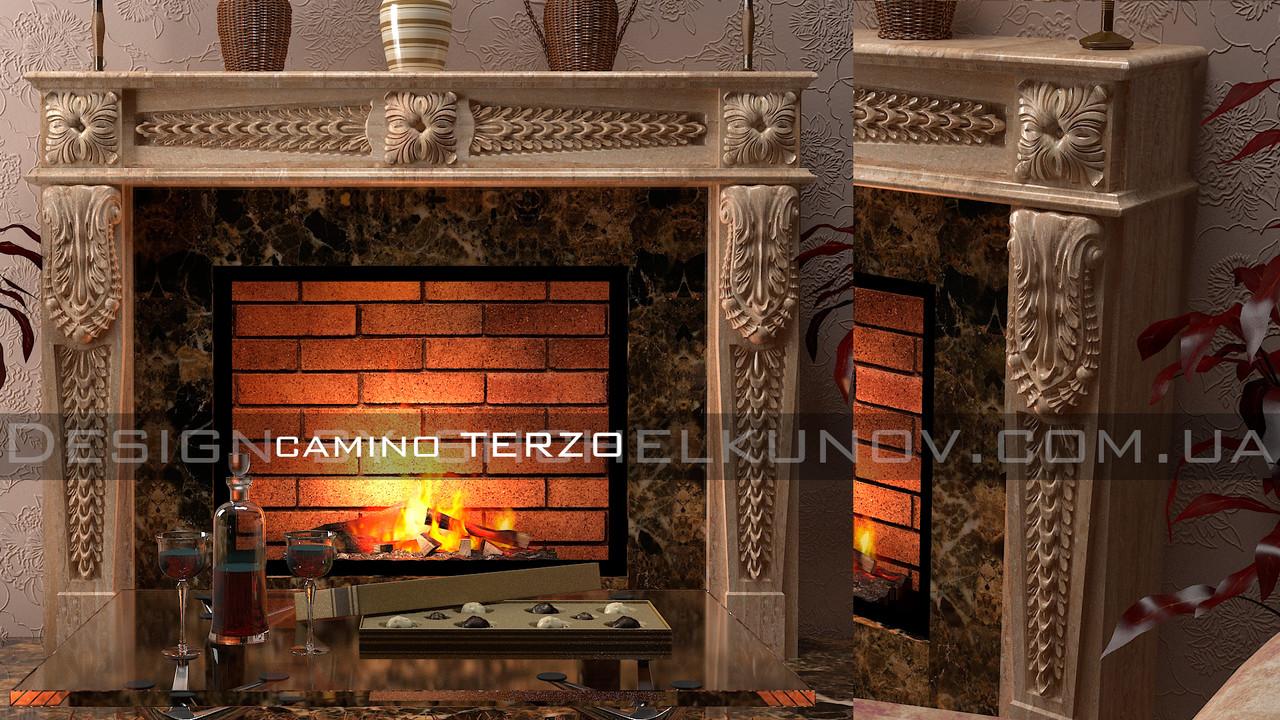 Мраморный портал камина Terzo