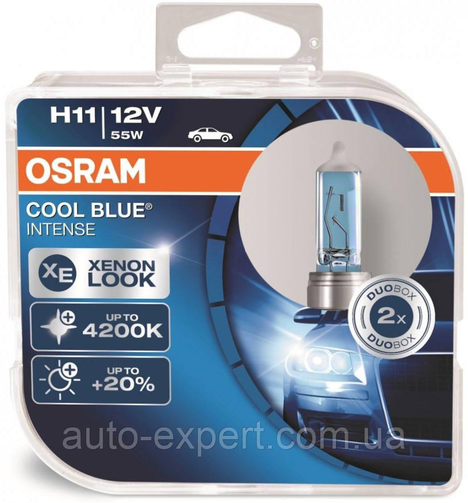 "Автомобильные галогенные лампы ""OSRAM"" (H11)(Cool Blue intense)(4200K)(+20%)(12V)(55W)"