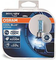 "Автомобильные галогенные лампы ""OSRAM"" (H11)(Cool Blue intense)(4200K)(+20%)(12V)(55W), фото 1"