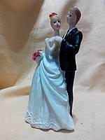 Декоративная свадебная статуэтка на торт 16,5 сантиметров высота